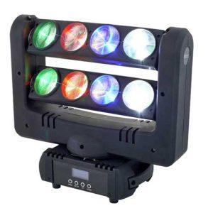 رقص نور NightStar مدل فایتر، پرقدرت و باکیفیت دارای 8 لنز 10واتی فول کالر/قابلیت اتصال به میکسر نور DMX / این رقص نور با حرکت عنکبوتی در مه ساز ، اشکال لوله ای شکل را تا مقصد هدایت می کند. / جهت خرید و یا کسب اطلاعات بیشتر به سایت WWW.FADAKSOUND.IR مراجعه کنید.