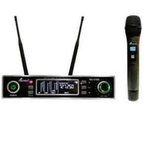میکروفون تک کانال بی سیم / کیفیت عالی و بردا تا 200 متر / مهلت تست 3روزه و بازگشت وجه در صورت عدم رضایت با گارانتی مجموعه صوتی فدک www.fadaksound.ir
